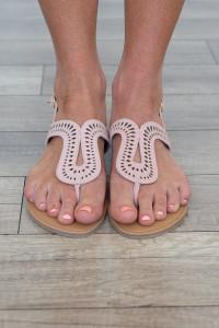 Poolside Die Cut Sandals - Blush - FINAL SALE