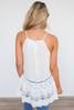 Lace & Grace Sleeveless Tunic - White