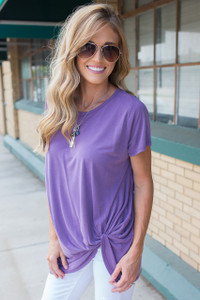 Summer Daze Knot Tee - Vintage Purple