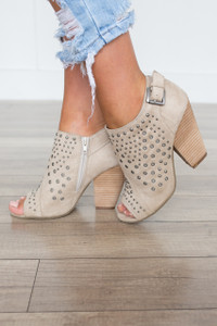 Coconuts by Matisse: J'Adore Studded Bootie - Beige
