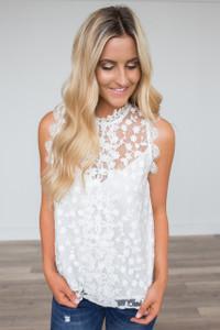 BB Dakota: Allegra Sheer Blouse - White