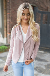 World Traveler Moto Jacket - Blush