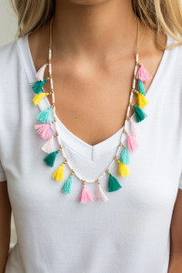 Bahama Mama Tassel Necklace - Multi
