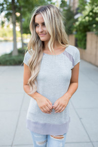 Shine & Sparkle Top - Heather Grey