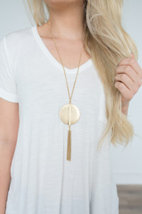 Golden Age Medallion Necklace - Gold