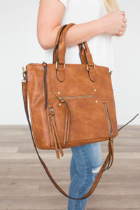 Unfinished Business Satchel - Tawny