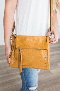 Ivy League Crossbody Bag - Vintage Honey