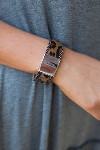 Leopard Print Bracelet - Brown Multi