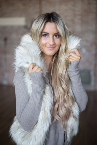 BB Dakota: Hettie Faux Fur Vest - Ivory Multi