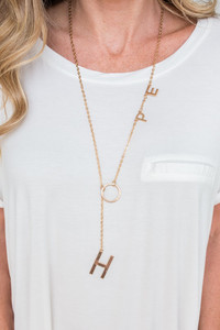Good Works Hope Necklace - Gold