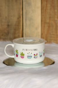 """It's the Little Things"" Soup Mug - White"