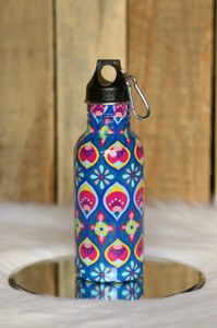 Floral Print Water Bottle - Blue Multi