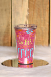 Wild & Free Tumbler - Pink