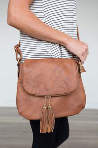 Victoria Tassel Crossbody Bag - Brown