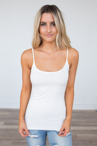 Criss Cross Back Cami - Ivory