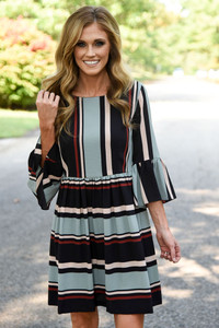London Calling Striped Dress - Multi