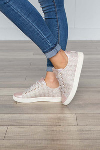 All That Glitters Sneaker - Rose Gold