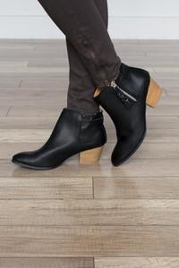 Astoria Zipper Booties - Black