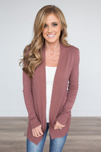 Down By The Bay Knit Cardigan - Canyon Sunset