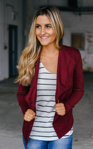 BB Dakota: Wade Suede Jacket - Burgundy