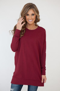 Winter Haven Pullover Tunic - Burgundy