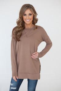Winter Haven Pullover Tunic - Mocha