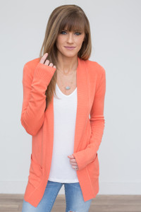 Down By The Bay Knit Cardigan - Peach