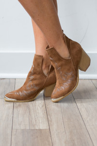 Western Cutout Ankle Bootie - FINAL SALE
