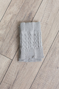 Peek a Boot Cuffs - Grey - FINAL SALE