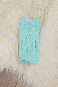 Peek a Boot Cuffs - Mint - FINAL SALE