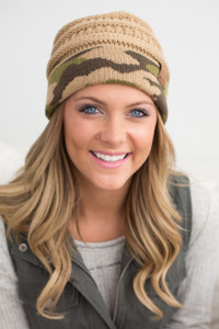 Cuff Knit Beanie - Camouflage - FINAL SALE