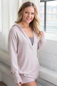 Cozy Pajama Top - Mauve