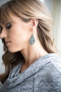 Teardrop Dangle Earrings - Turquoise - FINAL SALE