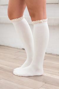 Ruffle Boot Socks - Ivory