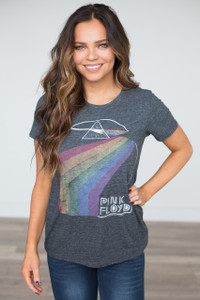 Lucky Brand: Pink Floyd Graphic Tee - Charcoal - FINAL SALE