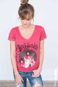 Jimi Hendrix Band Tee - Scarlet Red
