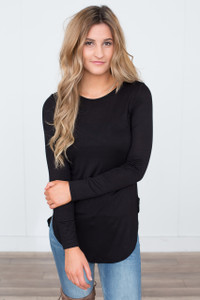 Cage Back Tunic - Black - FINAL SALE