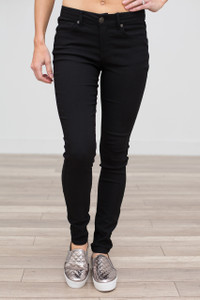 Low Rise Skinny Jeans - Black