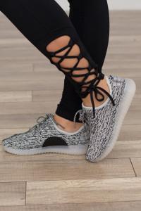 In a Flash Knit Sneaker - Grey/Black