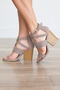 Love In Bloom Sandals - Taupe