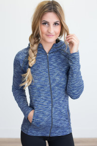Full Zip Athletic Jacket - Navy
