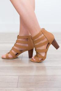 Gladiator Heels - Camel