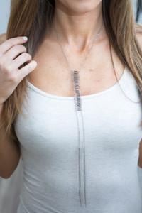 Tassel Chain Necklace - Silver
