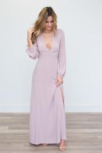 Open Back Maxi Dress - Dusty Pink