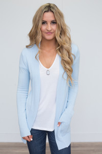 Down By The Bay Knit Cardigan - Sky Blue