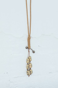 Beaded Pendant Necklace - Gold