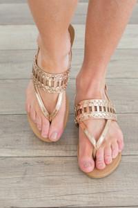 Sunny Days Sandal - Rose Gold