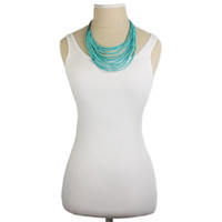 Layered Statement Necklace - Turquoise