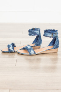 Coconuts By Matisse: Fly Denim Sandal - Blue - FINAL SALE