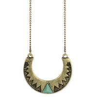 Crescent Pendant Necklace - Gold